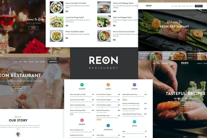 Thumbnail for Restaurant Food Cafe WordPress Theme - Reon