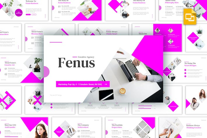 Thumbnail for Fenus - Creative Agency Keynote Template