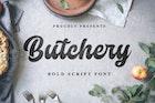 Butchery - Bold Script Font