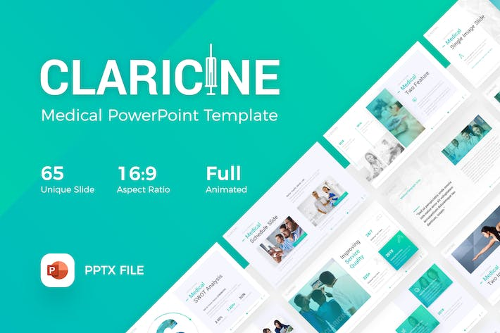 Cover Image For Claricine Medical PowerPoint Template
