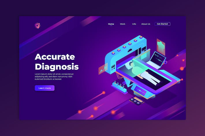 Thumbnail for Accurate Diagnosis - Isometric Landing Page