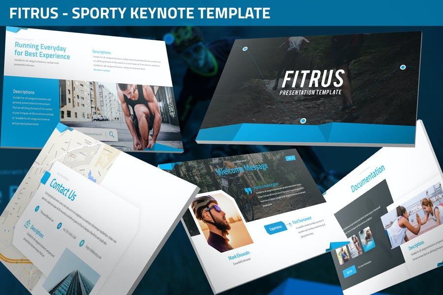 Fitrus - Sporty Keynote Template
