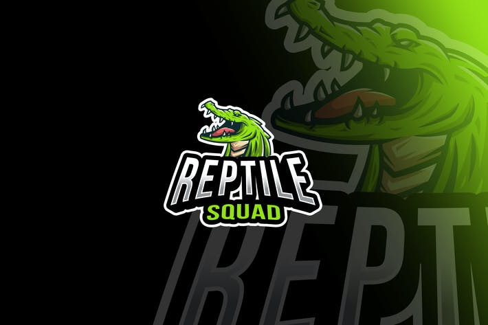 Thumbnail for Reptile Squad Esport Logo Template