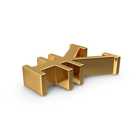 Gold Yuan Symbol