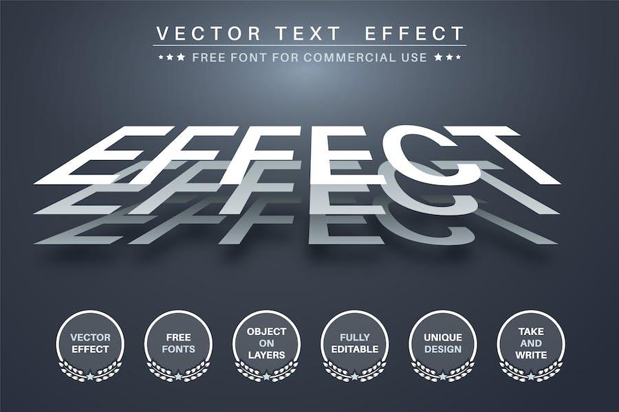 Трехслойный - редактируемый текстовый эффект, стиль шрифта
