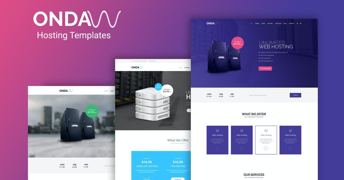 Download Onda - Web Hosting, Responsive HTML5 Template by codelayers