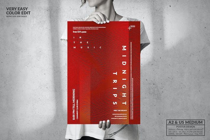 Thumbnail for Dance Music - Big Poster Design