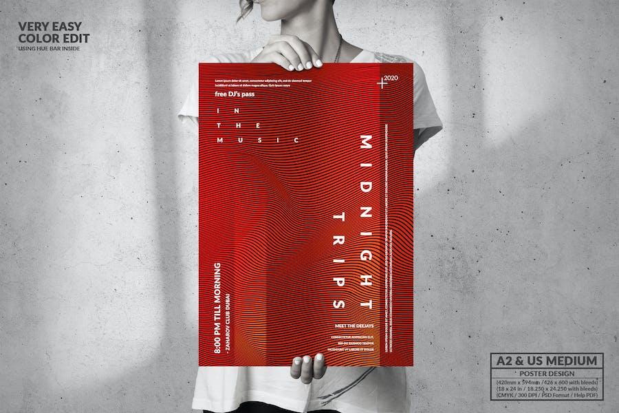Dance Music - Big Poster Design