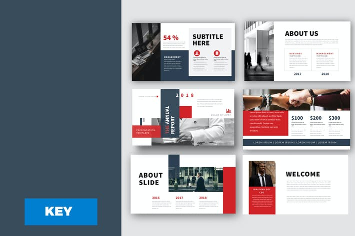 Thumbnail for Report Bussiness Powerpoint Template