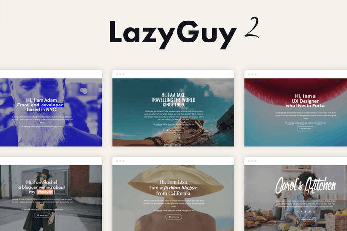Thumbnail for LazyGuy 2 - Personal Landing Page Template