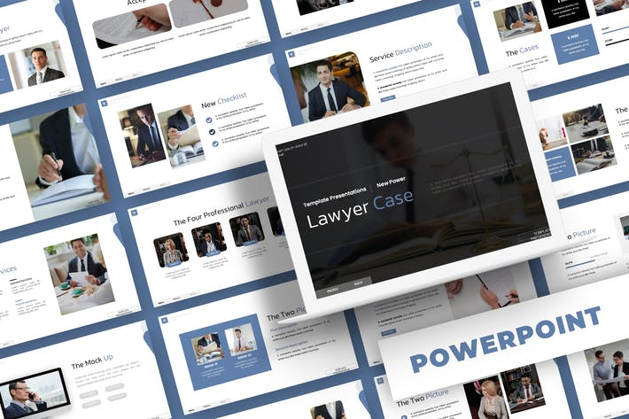 Thumbnail for Lawyer Case - Powerpoint Template