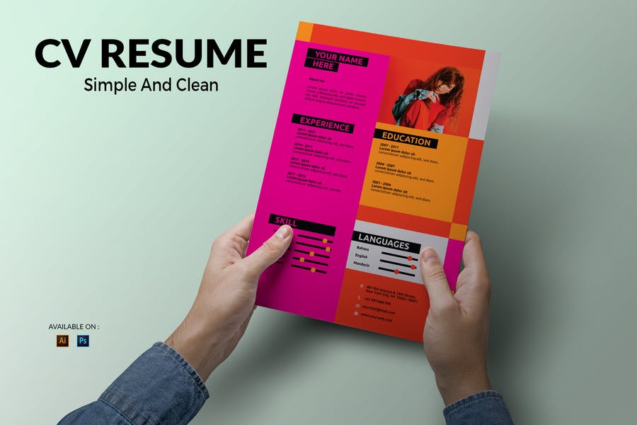 CV Resume Professional And Creative