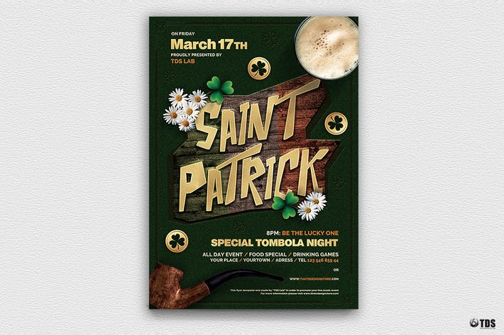 Thumbnail for Saint Patricks Day Flyer Template V6