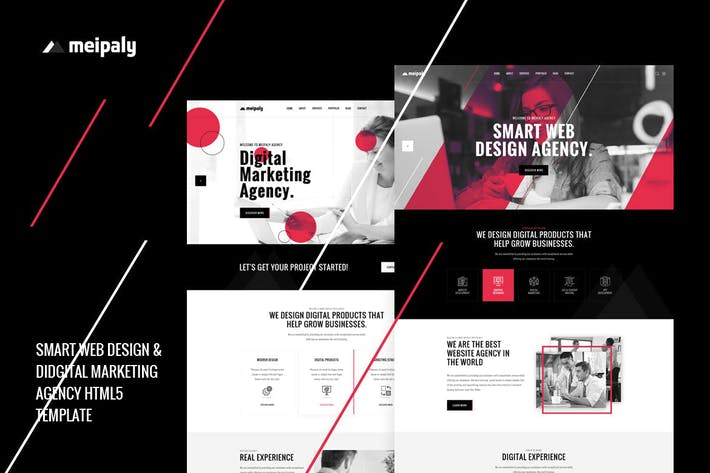 Thumbnail for Meipaly - Digital Services Agency HTML5 Template
