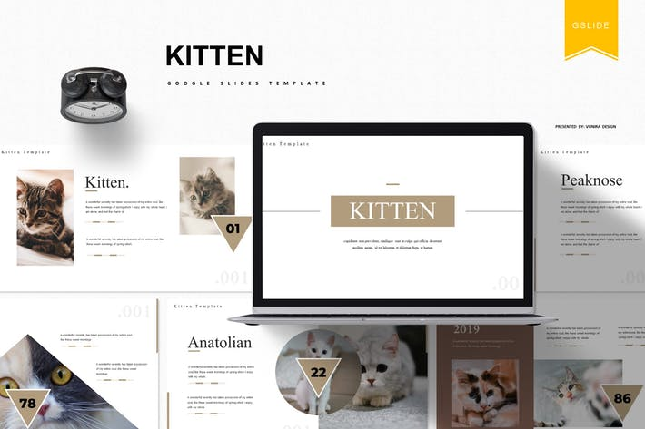 Thumbnail for Kitten | Google Slides Template