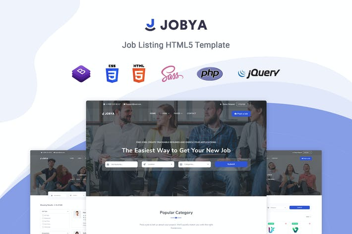 Thumbnail for Jobya - Job Listing HTML5 Template