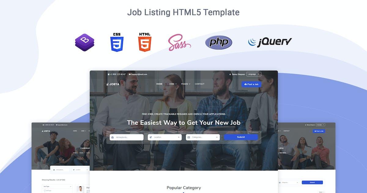 Download Jobya - Job Listing HTML5 Template by themesdesign