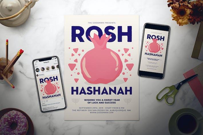 Thumbnail for Rosh Hashanah Flyer Set