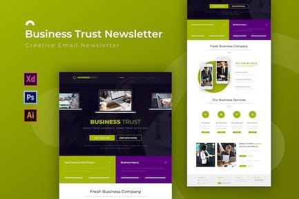 Business Trust   Newsletter Template