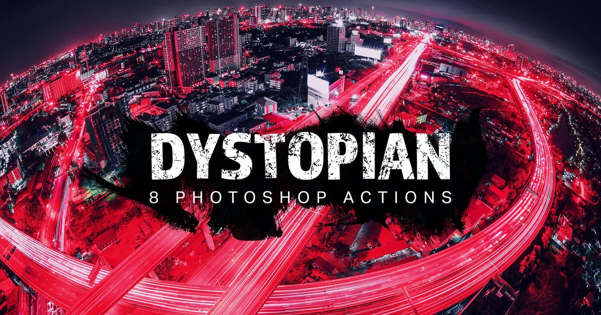 8 Dystopian Photoshop Actions by sparklestock on Envato Elements