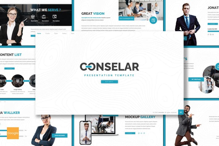 Thumbnail for Conselar - Business Google Slides Template