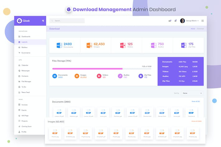 Thumbnail for Downloads Management Admin Dashboard UI Kit
