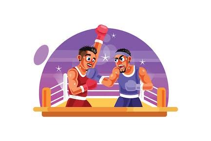 Boxer Fighter Vektor Illustration