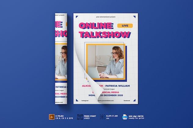 Online Talkshow Flyer Template Vol. 01