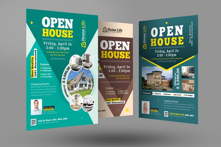 Thumbnail for Real Estate Open House Flyers