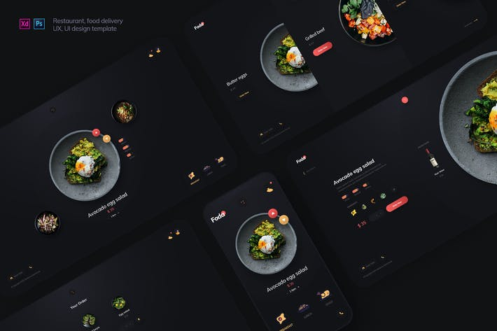 Thumbnail for Foda - Retaurant, food delivery UX and UI template