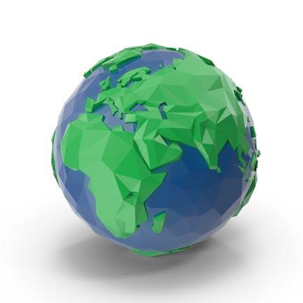 Niedriger Poly-Planet Erde