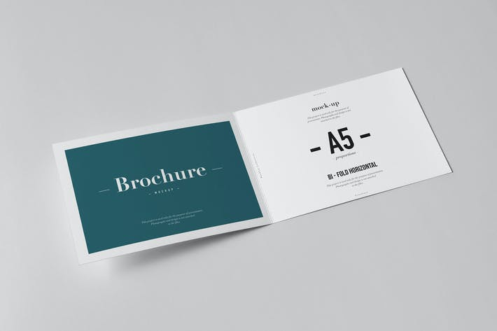 Thumbnail for Bi-Fold A5 Horizontal Brochure Mock-up