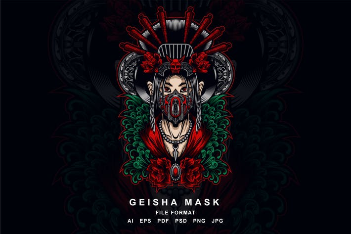 Thumbnail for Geisha Mask