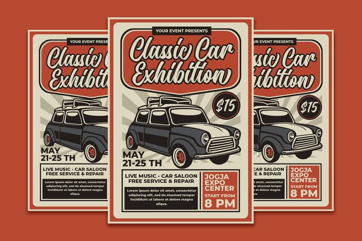 Thumbnail for Classic Car Exhibition Vintage Poster
