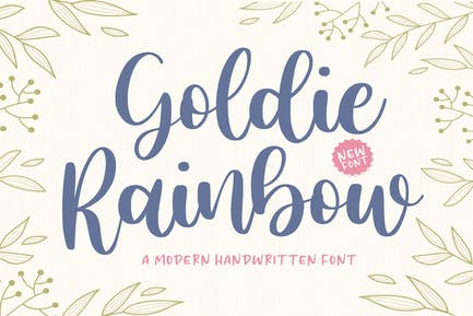 Goldie Rainbow Script Font YH