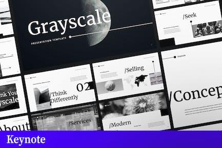 Шаблон бизнес-Keynote в оттенках серого