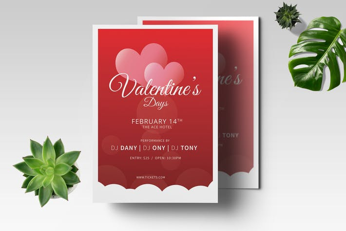 Thumbnail for Valentine Flyer Template 03
