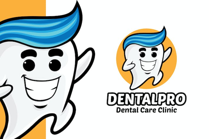 Thumbnail for Tooth Dental Clinic Logo Mascot Template