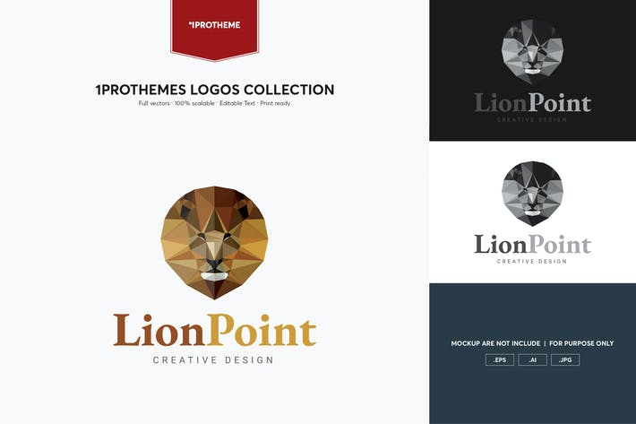 Thumbnail for Lion Point Logo Template