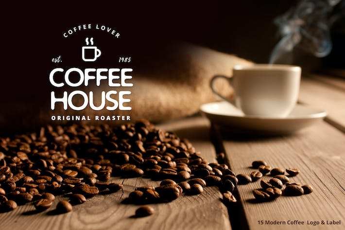 Thumbnail for 15 Modern Coffee  Logo & Label