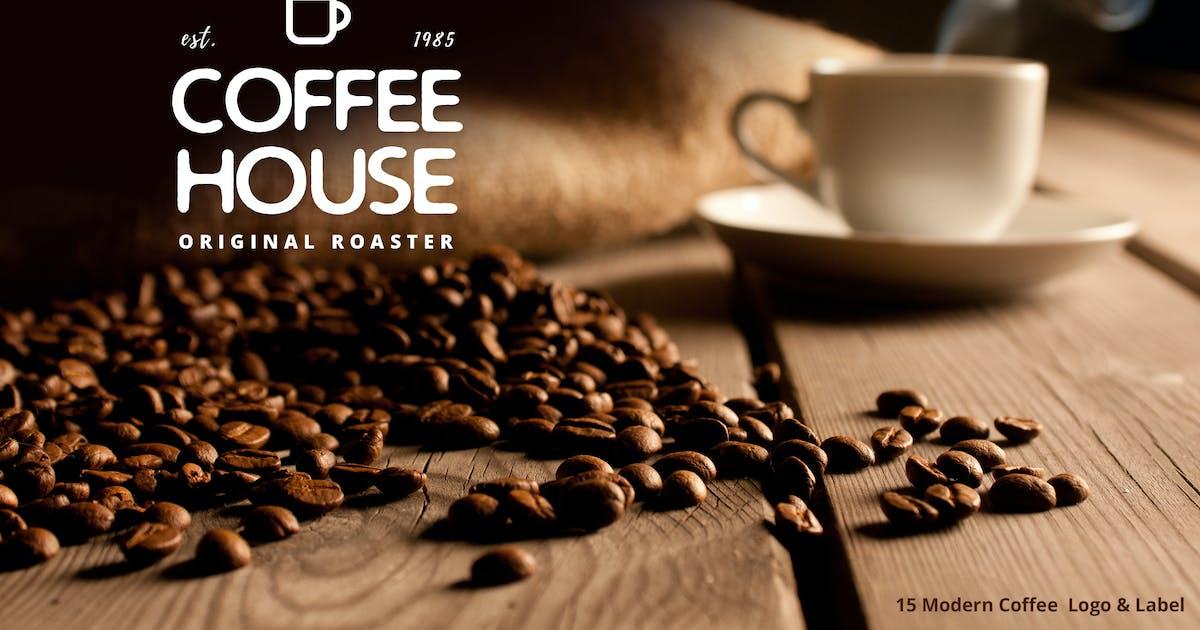 Download 15 Modern Coffee  Logo & Label by BNIMIT