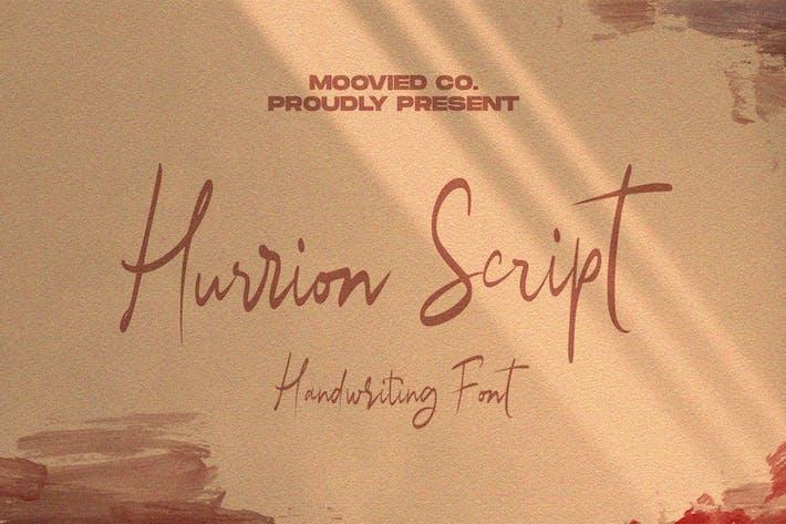 Thumbnail for Hurrion Script Font