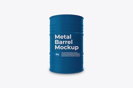 Metal Barrel Mockup