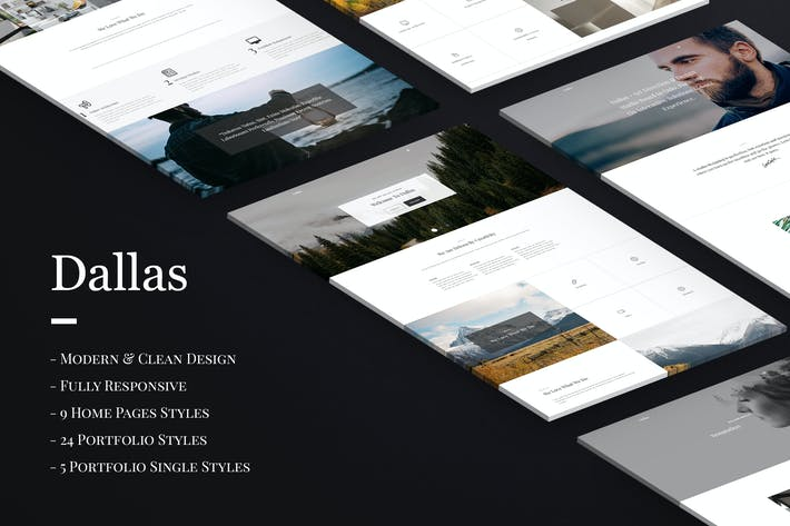 Thumbnail for Dallas - Minimal Agency & Portfolio HTML Template