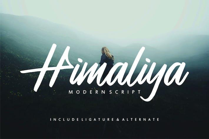 Thumbnail for Himaliya | Handwritting Script Font