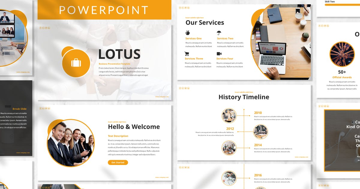 Download Lotus - Business Powerpoint Template by designesto