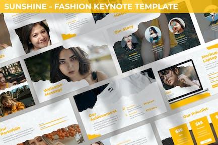 Sunshine - Plantilla para Keynote de moda