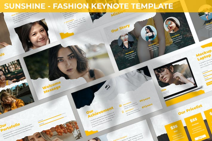 Thumbnail for Sunshine - Fashion Keynote Template