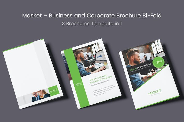 Cover Image For Maskot – Business and Corporate Brochure Bi-Fold