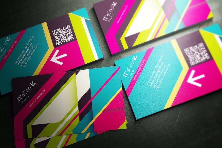 Color Belts Business Card Design